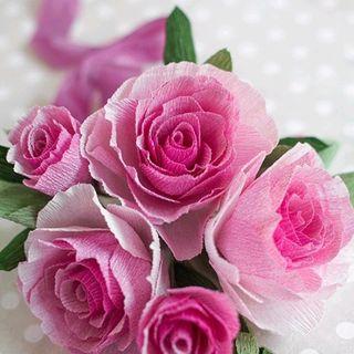 hoa hồng từ giấy nhún giá sỉ