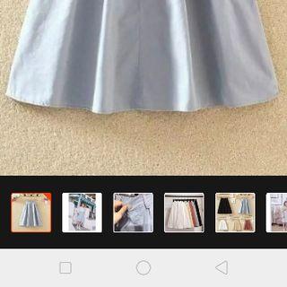 váy midi kaki Hàn Quốc giá sỉ