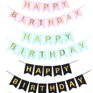 Cờ Đuôi Cá Happy Birthday giá sỉ