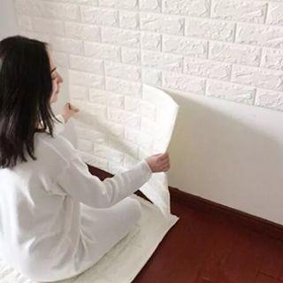 Giấy dán tường 3D giả gạch giá sỉ