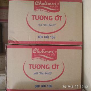 Tương ớt Cholimex gói 10g - thùng 800 gói giá sỉ