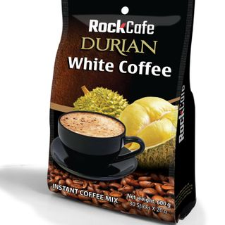 Cà phê sầu riêng - Rockcafe Durian White coffee - Bịch 30 gói x 20g giá sỉ