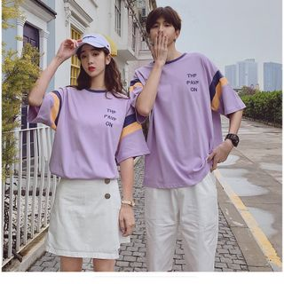 Áo thun nam màu tím dễ thương giá sỉ