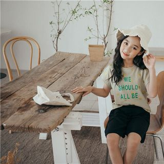 Set áo thun chấm bi mix quần short ống rộng thời trang giá sỉ