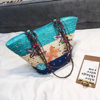 Túi cói màu đi biển giá sỉ