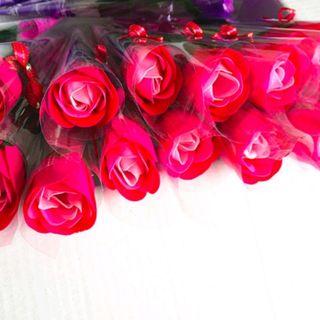 Hoa hồng sáp thơm nguyên cây mẫu y hình giá sỉ