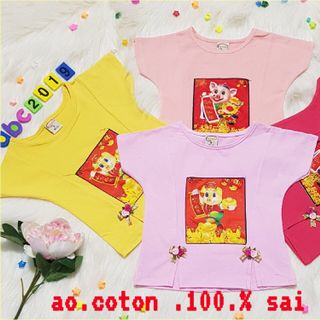 Áo thun bé gái cotton 100 Sezi 1-12 giá sỉ
