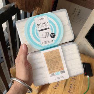 Bông miniso 150 miếng loại dày giá sỉ
