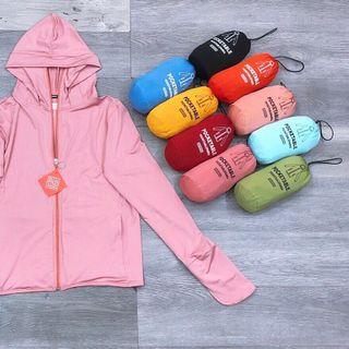 Áo khoác chỗng nắng UV không hơi ra hàng 3 in 1 bao tay khẩu trang 6 túi giá sỉ