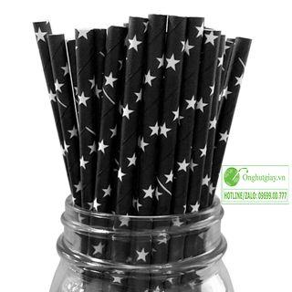 Ống hút giấy ngôi sao cho cà phê sinh tố trà sữa giá sỉ