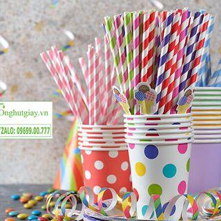 Cung cấp ống hút giấy cho trang trí tiệc cưới sinh nhật giá sỉ