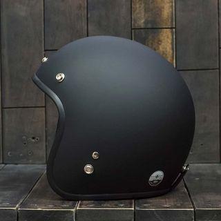 Mũ bảo hiểm 3/4 đen trơn giá sỉ