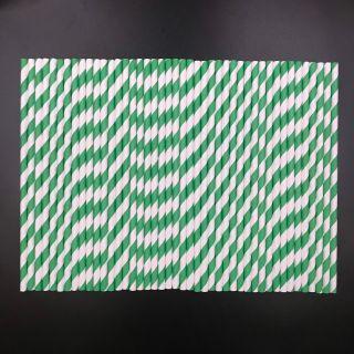 Ống hút giấy cao cấp 8x197mm màu sọc giá sỉ