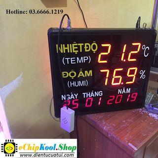 Đồng hồ treo tường Nhiệt độ - Độ ẩm - Ngày Tháng Năm - 2019 giá sỉ
