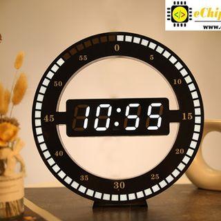 Đồng hồ treo tường led 3D Circle độc đáo giá sỉ