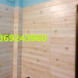 xốp dán tường giả gỗ giá sỉ