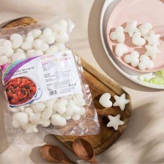 Bánh gạo Hàn Quốc topokki hoa sao tim giá sỉ