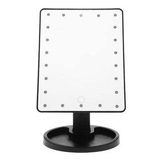 Gương Trang Điểm Để Bàn Hình Chữ Nhật Có Đèn Xoay 180 Độ giá sỉ