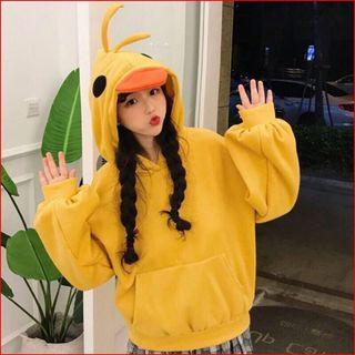 Áo hoodie nữ mũ vịt giá sỉ