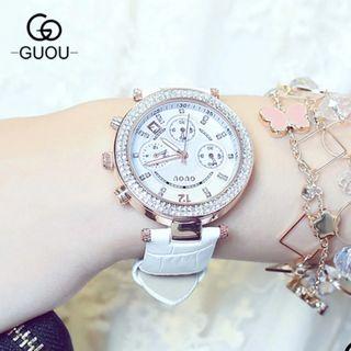 Đồng hồ nữ GUOU 8122 có lịch giá sỉ