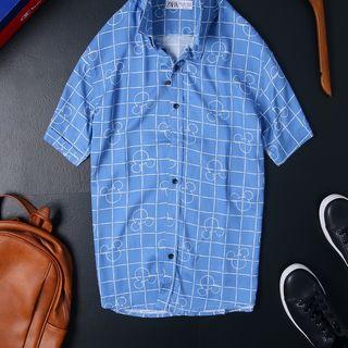 Sơmi ngắn tay họa tiết Hoa Cotton 100 Full Tem Tag 10 mẫu Size S M L XL giá sỉ
