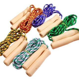 Đồ chơi nhảy dây cán gỗ nhiều màu giá sỉ