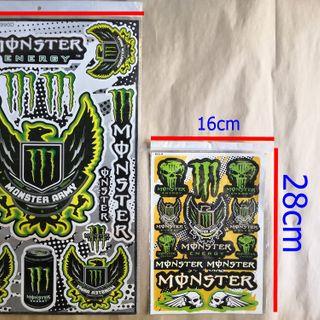 bộ decal monster mẫu to- đẹp 45cm- tem decal oto-xe máy- đạp điện giá sỉ