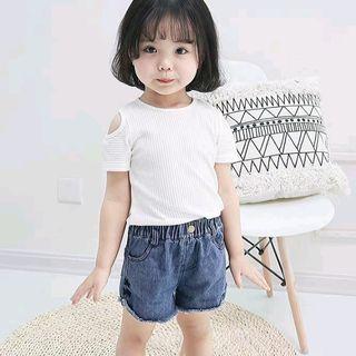 Áo thun gân hỡ vai bé gái quảng châu thời trang giá sỉ