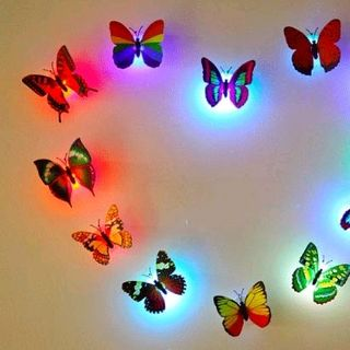 bươm bướm có đèn led dán tường kiểu đẹp giá sỉ