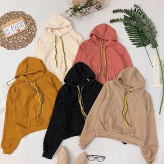 Áo hoodie trơn dây mix màu giá sỉ