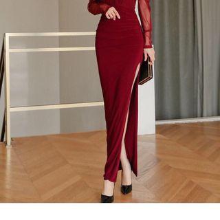 Đầm dạ hội xẻ tà giá sỉ