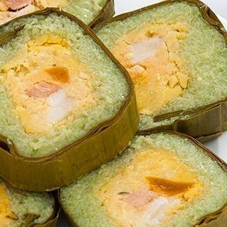 Bánh tét miền tây nếp thơm nhưng thịt trứng muối giá sỉ