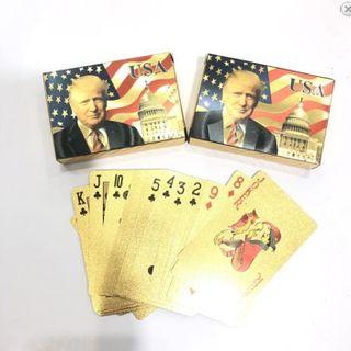 Bộ bài TÂY mạ vàng hình Tổng Thống Mỹ Trump giá sỉ