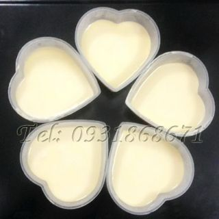 Bộ 50 khuôn bánh Flan hình tim giá sỉ