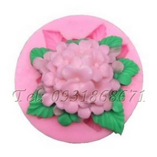 Khuôn rau câu silicon hoa cẩm tú cầu - Mã số 68 giá sỉ