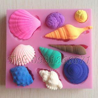 Khuôn rau câu silicon sò ốc biển - Mã số 26 giá sỉ