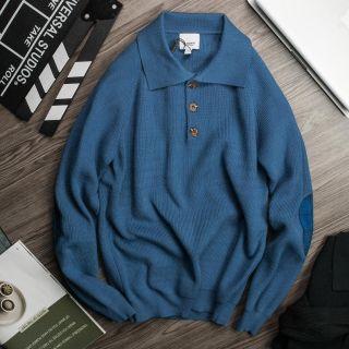 áo len cho nam cực dày chăm chút từng đường may màu xanh dương giá sỉ