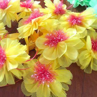 Nơ hoa giấy gói quà trang trí giỏ quà giá sỉ