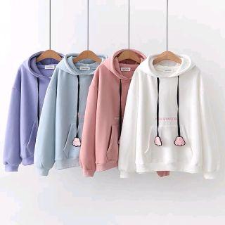 Áo hoodie thêu Pink giá sỉ