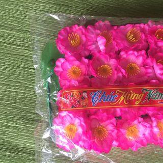 Hoa đào giả trang trí 1 bịch có 40 hoa giá sỉ