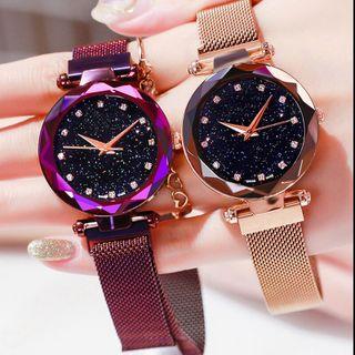Đồng Hồ Star Watch dành cho nữ Rose Gold Lưới Magnet Starry Sky Quartz Đồng hồ đeo tay Gradient Ladies Đồng hồ đeo tay nữ Relogio nữ tính giá sỉ