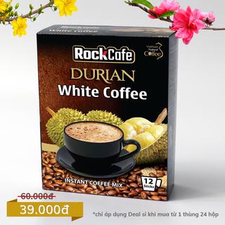 Cà phê sầu riêng - Rockcafe Durian White coffee - Hộp 20 gói x 20g giá sỉ