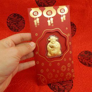 Bao lì xì Thần Tài chuột vàng giá sỉ
