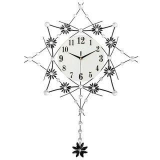Đồng hồ treo tường hình quả lắc đính đá size 58x58cm giá sỉ