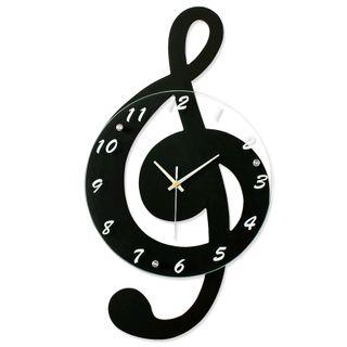 Đồng hồ treo tường hình nốt nhạc size 28x52cm giá sỉ