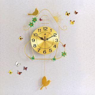 Đồng hồ treo tường trang trí hình chim én size 36x70cm giá sỉ