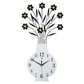 Đồng hồ treo tường bình hoa đính đá size 34x60cm giá sỉ