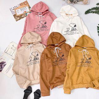 Áo hoodie da lộn hình snoopy giá sỉ