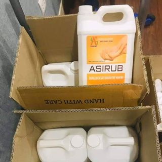 Nước rửa tay khô asirub can 5 lit giá sỉ