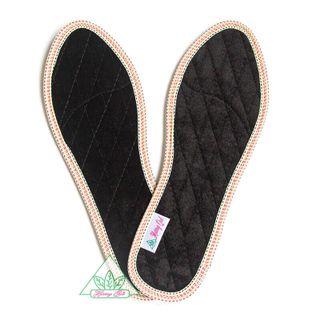 Lót giày Quế Vải Nhung CI-07 khử mùi hôi chân giúp êm chân ấm chân phòng cảm cúm cải thiên sức khỏe giá sỉ